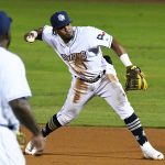 Missions infielder Eguy Rosario playing against Frisco on May 21, 2021, at Wolff Stadium. - photo by Joe Alexander