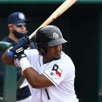 Missions infielder Eguy Rosario playing against Frisco on May 23, 2021, at Wolff Stadium. - photo by Joe Alexander