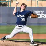 UTSA's John Chomko pitching against Middle Tennessee on April 9 at Roadrunner Field. - photo by Joe Alexander