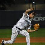 UTSA's John Chomko pitching against Rice on April 23 at Roadrunner Field. - photo by Joe Alexander