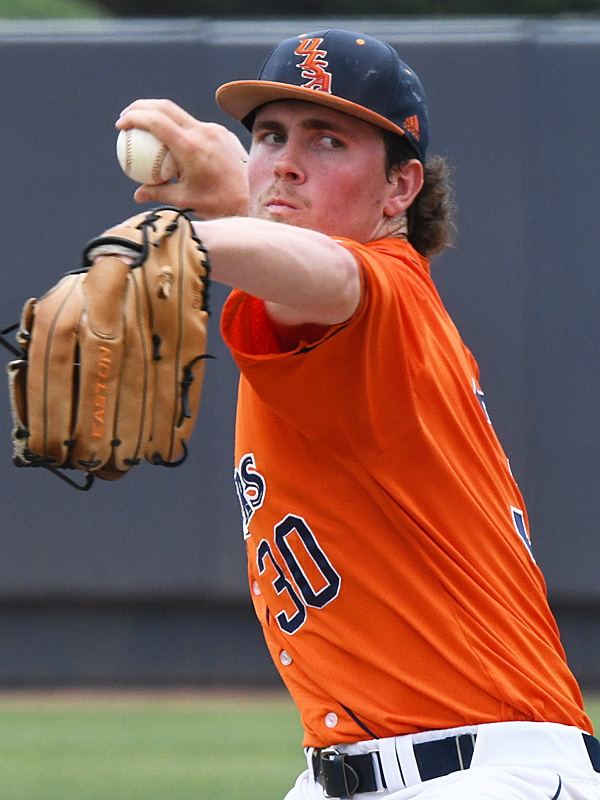 UTSA's John Chomko pitching against Old Dominion on May 9 at Roadrunner Field. - photo by Joe Alexander
