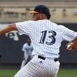 UTSA's Kyle Sonduck pitching against Rice on April 23, 2021, at Roadrunner Field. - photo by Joe Alexander