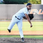 UTSA's Kyle Sonduck pitching against Old Dominion on May 7, 2021, at Roadrunner Field. - photo by Joe Alexander