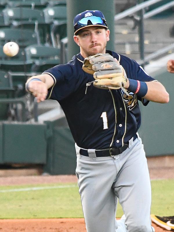 Matt Batten playing third base for the San Antonio Missions on May 5, 2021 against Corpus Christi. - photo by Joe Alexander