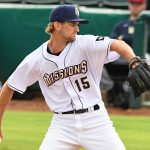 San Antonio Missions starter Caleb Boushley pitching against the Frisco RoughRiders on Tuesday, May 18, 2021, at Wolff Stadium. - photo by Joe Alexander