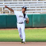 CJ Abrams playing for the San Antonio Missions against the Frisco Round Riders on Wednesday, May 19, 2021, at Wolff Stadium. - photo by Joe Alexander