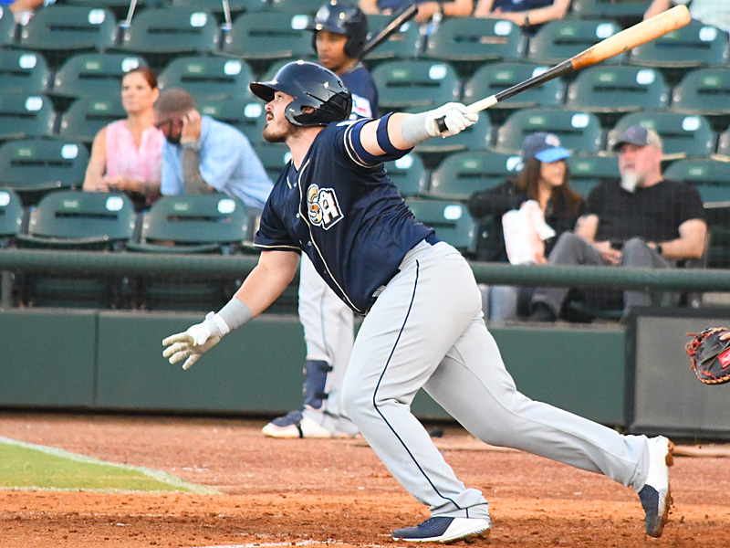 Kyle Overstreet made his Missions debut Thursday and drove in the team's only run in a 6-1 loss to the Corpus Christi Hooks. - photo by Joe Alexander