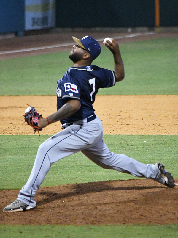 Pedro Avila pitched the final inning for the San Antonio Missions in their 8-3 victory over the Corpus Christi Hooks in Tuesday's season opener. - photo by Joe Alexander