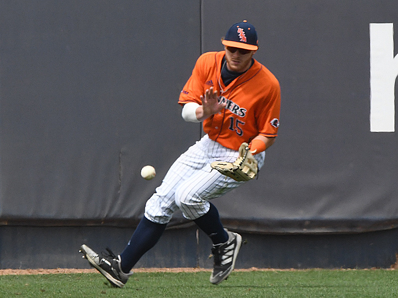 UTSA's Sean Arnold playing outfield against UT Arlington on March 6, 2021, at Roadrunner Field. - photo by Joe Alexander