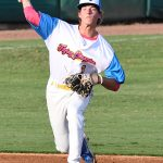 Jake Mares, Flying Chanclas de San Antonio, Pioneer, Houston. The Flying Chanclas de San Antonio played the Brazos Valley Bombers in a Texas Collegiate League game on Tuesday, June 22, 2021, at Wolff Stadium. - photo by Joe Alexander