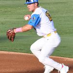 Zac Vooletich, second base, Flying Chanclas de San Antonio, Brandeis, Navarro/Arkansas. The Flying Chanclas de San Antonio played the Brazos Valley Bombers in a Texas Collegiate League game on Tuesday, June 22, 2021, at Wolff Stadium. - photo by Joe Alexander