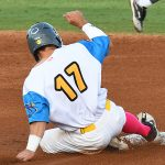 Rody Barker, left field, Flying Chanclas de San Antonio, Kerrville Tivy, Texas A&M. The Flying Chanclas de San Antonio played the Brazos Valley Bombers in a Texas Collegiate League game on Tuesday, June 22, 2021, at Wolff Stadium. - photo by Joe Alexander