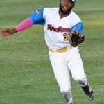 Ian Bailey, center field, Flying Chanclas de San Antonio, Stevens, UTSA. The Flying Chanclas de San Antonio played the Brazos Valley Bombers in a Texas Collegiate League game on Tuesday, June 22, 2021, at Wolff Stadium. - photo by Joe Alexander