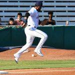 San Antonio Missions third baseman Allen Cordoba taking the field for his season debut on Saturday, June 12, 2021, at Wolff Stadium. - photo by Joe Alexander