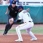 San Antonio Missions third baseman Allen Cordoba makes a play on a ground ball in his season debut on Saturday, June 12, 2021, at Wolff Stadium. - photo by Joe Alexander