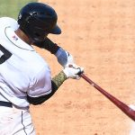 San Antonio Missions third baseman Allen Cordoba playing in his second game of the season on Sunday, June 13, 2021, at Wolff Stadium. - photo by Joe Alexander