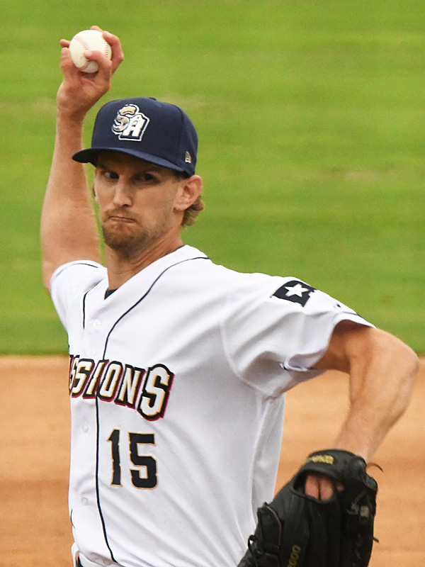 Caleb Boushley made eight starts for the San Antonio Missions this season before being called up to Triple-A. - photo by Joe Alexander