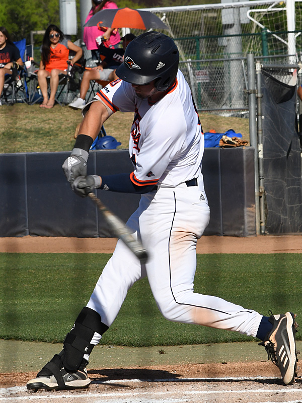 Chase Keng playing for UTSA against Middle Tennessee on April 10, 2021, at Roadrunner Field. - photo by Joe Alexander
