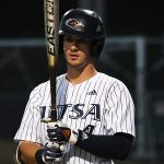 Chase Keng playing for UTSA against Rice on April 23, 2021, at Roadrunner Field. - photo by Joe Alexander