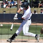 Chase Keng playing for UTSA against Rice on April 24, 2021, at Roadrunner Field. - photo by Joe Alexander