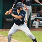 UTSA's Chris Shull playing for the Brazos Valley Bombers against the Flying Chanclas de San Antonio on Tuesday, June 22, 2021, at Wolff Stadium. - photo by Joe Alexander