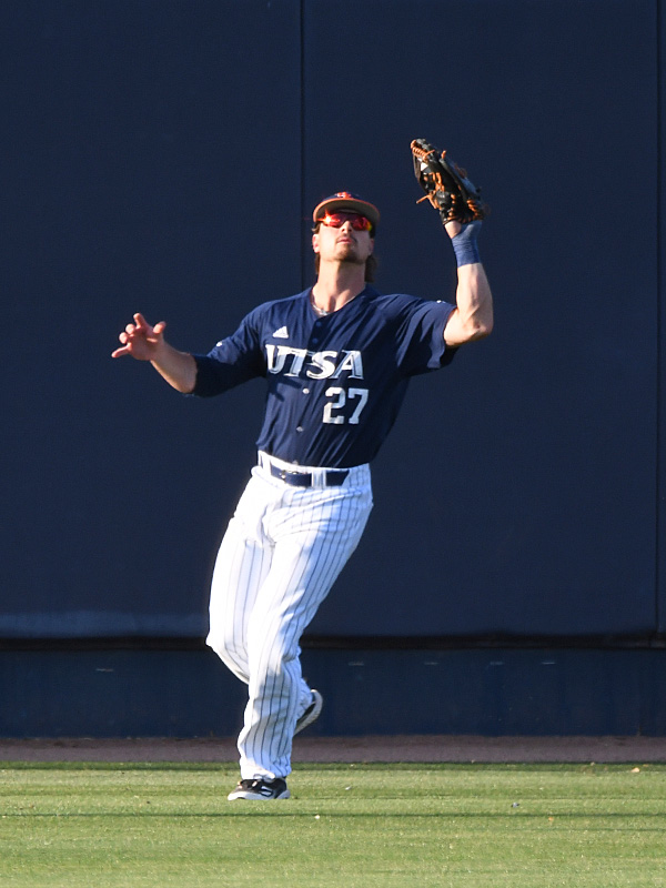 Dylan Rock playing for UTSA against Middle Tennessee on April 9, 2021, at Roadrunner Field. - photo by Joe Alexander