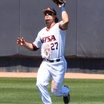 Dylan Rock playing for UTSA against Middle Tennessee on April 10, 2021, at Roadrunner Field. - photo by Joe Alexander