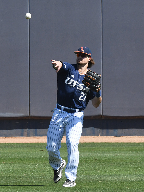 Dylan Rock playing for UTSA against Middle Tennessee on April 11, 2021, at Roadrunner Field. - photo by Joe Alexander