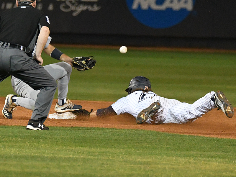 Dylan Rock playing for UTSA against Rice on April 23, 2021, at Roadrunner Field. - photo by Joe Alexander