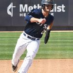 Dylan Rock playing for UTSA against Rice on April 25, 2021, at Roadrunner Field. - photo by Joe Alexander