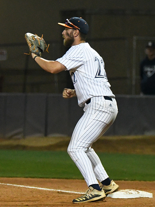 Griffin Paxton playing for UTSA against Rice on April 23, 2021, at Roadrunner Field. - photo by Joe Alexander
