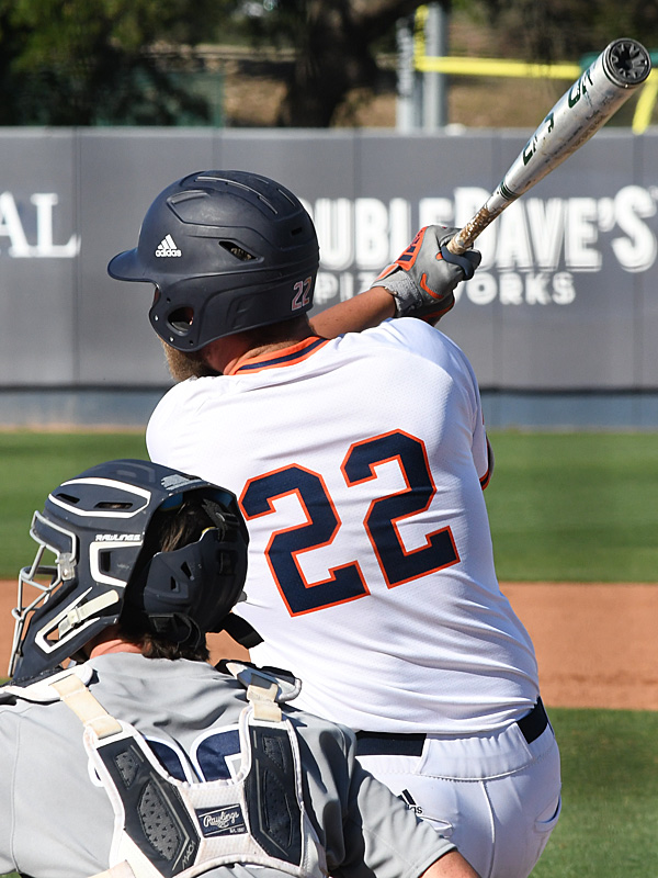 Griffin Paxton playing for UTSA against Rice on April 24, 2021, at Roadrunner Field. - photo by Joe Alexander