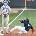 Ian Bailey playing for UTSA against Middle Tennessee on April 9, 2021, at Roadrunner Field. - photo by Joe Alexander