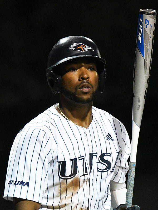 Ian Bailey playing for UTSA against Rice on April 23, 2021, at Roadrunner Field. - photo by Joe Alexander