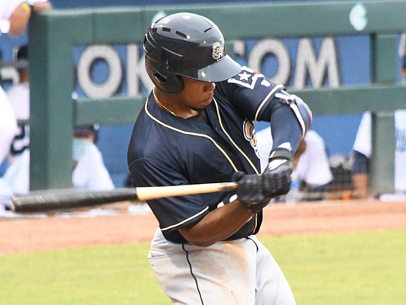 Jose Azocar of the San Antonio Missions playing on the road in Corpus Christi on May 4, 2021. - photo by Joe Alexander