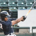 Jose Azocar of the San Antonio Missions playing on the road in Corpus Christi on May 5, 2021. - photo by Joe Alexander