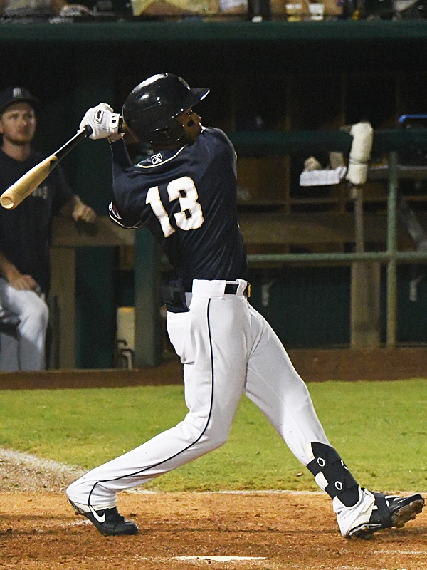 Jose Azocar of the San Antonio Missions playing against the Northwest Arkansas Naturals on June 15, 2021, at Wolff Stadium. - photo by Joe Alexander