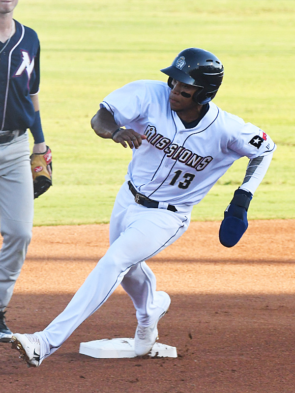 Jose Azocar of the San Antonio Missions playing against the Northwest Arkansas Naturals on June 16, 2021, at Wolff Stadium. - photo by Joe Alexander