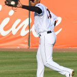 Jose Azocar of the San Antonio Missions playing against the Northwest Arkansas Naturals on June 19, 2021, at Wolff Stadium. - photo by Joe Alexander
