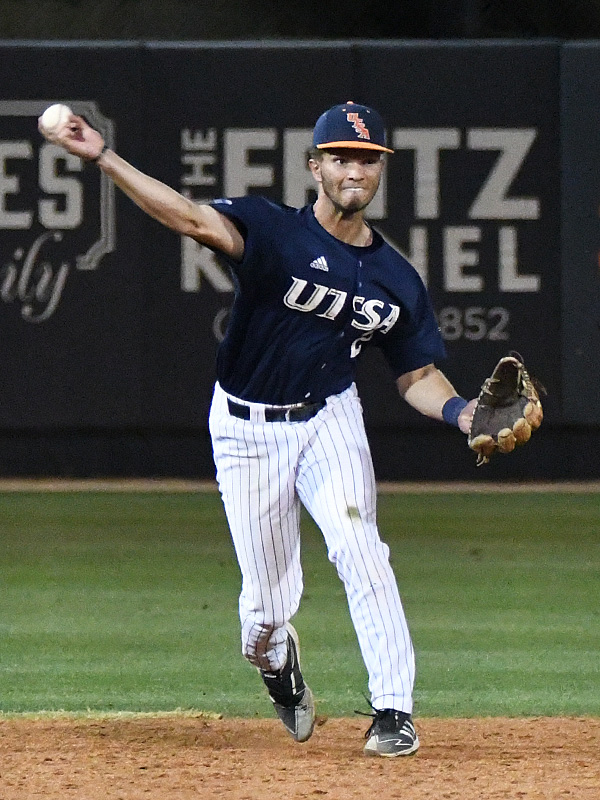Joshua Lamb playing for UTSA against Middle Tennessee on April 9, 2021, at Roadrunner Field. - photo by Joe Alexander