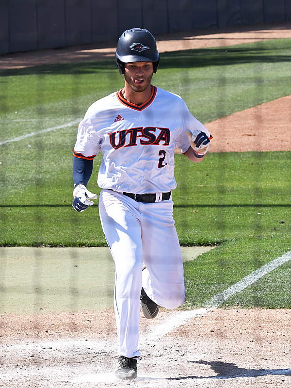 Joshua Lamb playing for UTSA against Middle Tennessee on April 10, 2021, at Roadrunner Field. - photo by Joe Alexander