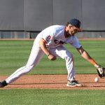 Joshua Lamb playing for UTSA against Rice on April 24, 2021, at Roadrunner Field. - photo by Joe Alexander