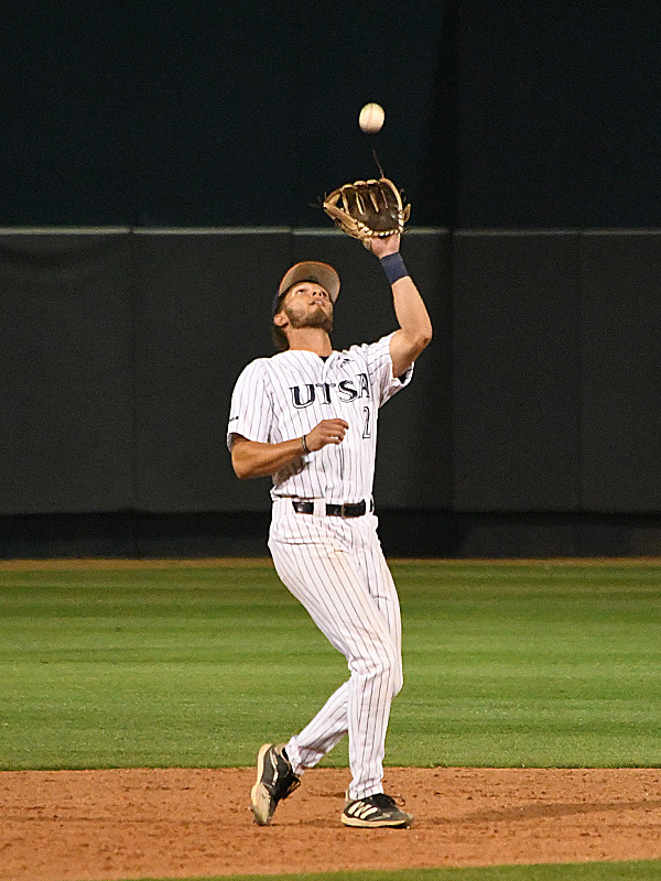 Joshua Lamb playing for UTSA against Old Dominion on May 7, 2021, at Roadrunner Field. - photo by Joe Alexander