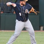 Kyle Overstreet playing for the San Antonio Missions on the road on May 5, 2021, in Corpus Christi. - photo by Joe Alexander