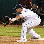 Kyle Overstreet playing for the San Antonio Missions against the Frisco RoughRiders on May 21, 2021, at Wolff Stadium. - photo by Joe Alexander