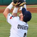 Kyle Overstreet playing for the San Antonio Missions against the Northwest Arkansas Naturals on June 18, 2021, at Wolff Stadium. - photo by Joe Alexander