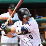 Kyle Overstreet playing for the San Antonio Missions against the Northwest Arkansas Naturals on June 20, 2021, at Wolff Stadium. - photo by Joe Alexander