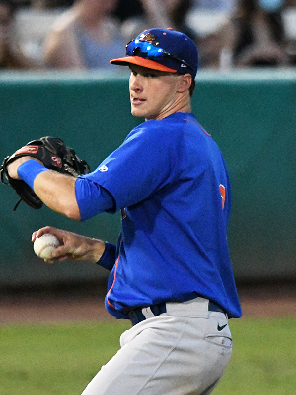Midland RockHounds infielder and Oakland A's prospect Logan Davidson playing against the San Antonio Missions on Tuesday, June 8, 2021, at Wolff Stadium. - photo by Joe Alexander