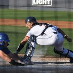 Nick Thornquist playing for UTSA against Middle Tennessee on April 10, 2021, at Roadrunner Field. - photo by Joe Alexander