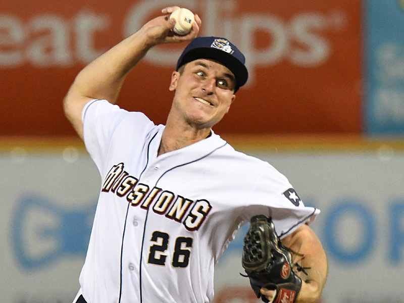 San Antonio Missions starter Reiss Knehr pitched the first six innings to get the win. The Missions beat the Midland RockHounds 4-2 Tuesday night at Wolff Stadium. - photo by Joe Alexander